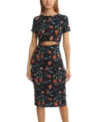 SUNO Cut Out Dress Fibi - Black