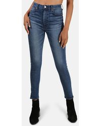 Moussy Willows Rebirth High Rise Skinny Jeans - Blue