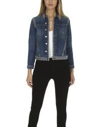 L'Agence - Celine Studded Jacket - Lyst