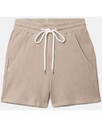 The Range Jumbo Stark Drawstring Short Dress - Natural
