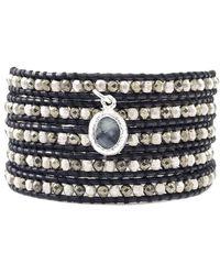 Chan Luu - Black Leather Wrap Bracelet - Lyst