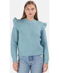 Zimmermann Ladybeetle Frill Sweater - Blue