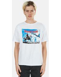 Blue & Cream Ride Graphic T-shirt - White