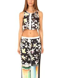 Clover Canyon - Garden Plaid Crop Top - Lyst