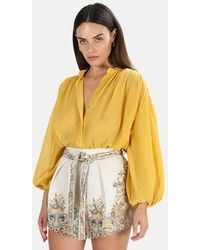 Zimmermann Bonita Crinkle Shirt - Yellow