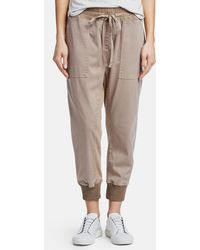James Perse Mixed Media Trousers - Multicolour