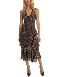 A.L.C. Hayley Dress Brown Multi