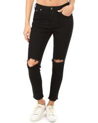 One Teaspoon Freebirds Ii High Waist Skinny Jeans - Black