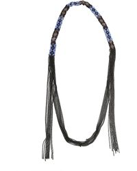 Chan Luu Glass Bead Necklace - Blue
