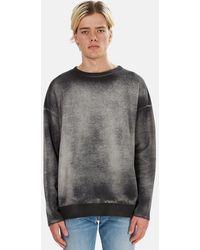 Avant Toi Crew Pullover Sweater - Grey