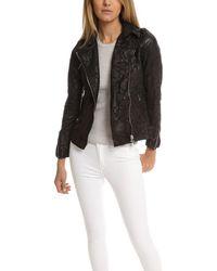Giorgio Brato Lace Leather Jacket - Black