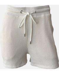 The Range Jumbo Stark Drawstring Short Dress - White