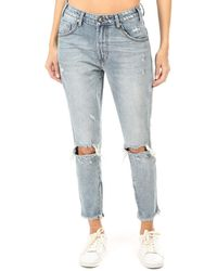 One Teaspoon Freebirds High Waist Skinny Jeans - Blue