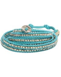 Chan Luu - Turquoise Leather Wrap Bracelet - Lyst