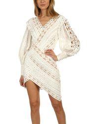 Zimmermann Moncur Studded Mini Dress Ivory - White