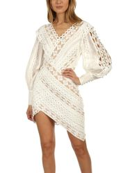 Zimmermann Moncur Studded Mini Dress - White