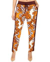 3.1 Phillip Lim Printed Slim Drawstring Pants - Orange