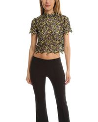 Self-Portrait - Cropped T Shirt - Lyst