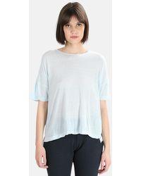 V :: Room High Soft Melange T-shirt - Blue