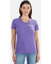 Blue & Cream Lamptons Crewneck T-shirt - Purple