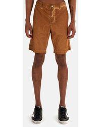 Massimo Alba Velvet Bermuda Short - Brown