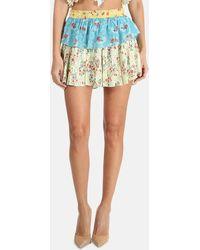 LoveShackFancy Ruffle Mini Skirt - Multicolour