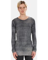 Avant Toi Jersey Double Layer Shirt - Grey