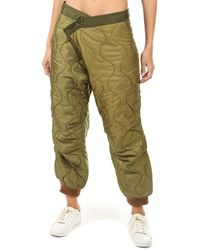 R13 Refurbished Quilted Crossover Pant Olive - Green