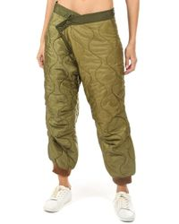 R13 Refurbished Quilted Crossover Pant - Green