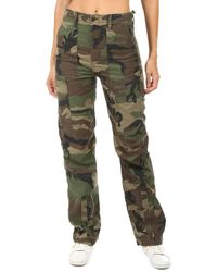 RE/DONE High Waisted Cargo Pants - Green