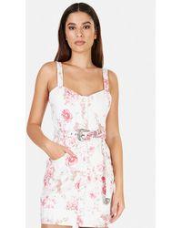 For Love & Lemons For Love & Lemons Weston Mini Dress - Pink