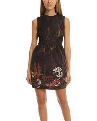RED Valentino Floral Tank Dress - Black
