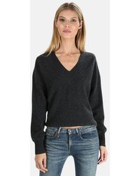 NAADAM Cashmere V Neck Sweater - Black