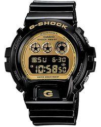G-Shock - G Shock Black/gold Dw-6900lb-1cr - Lyst