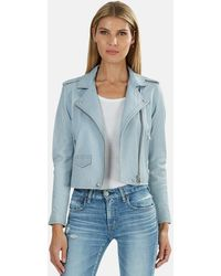 IRO Ashville Leather Jacket - Blue