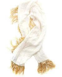 3.1 Phillip Lim Wrap Around Scarf With Tassel Border - White