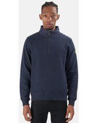 Belstaff Jaxon Quarter Zip Pullover Sweater - Blue