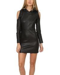 RTA Grace Hoodie Dress Black