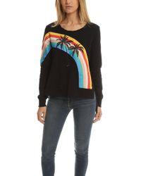 Pam & Gela Rainbow Sweatshirt - Black