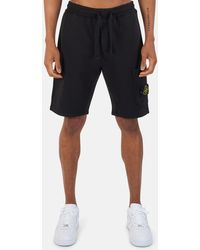 Stone Island Garment Dyed Fleece Cargo Shorts - Black