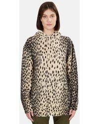 R13 Oversized Cheetah Print Hoodie - Brown