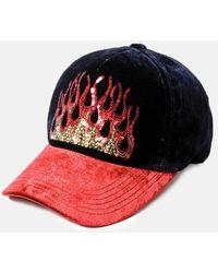 Lucien Pellat Finet Velvet Flame Cap - Red