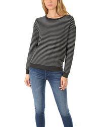 Majestic Filatures Drop Shoulder Pullover Sweater - Multicolor