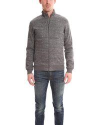 Vince Full Zip Mock Neck Sweatshirt Jumper - Gray