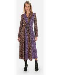 Nanushka Maxi Dress With Beaded Ties - Purple