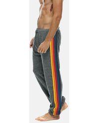 Aviator Nation 5 Stripe Sweatpant - Grey