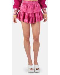 LoveShackFancy Ruffle Miniskirt - Multicolor