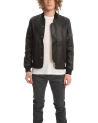 Officine Generale Efy Leather Jacket - Black
