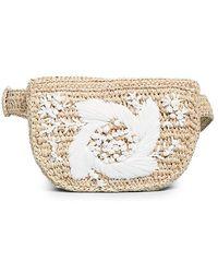 Zimmermann Embroidered Raffia Belt Bag - Natural