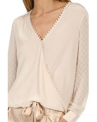 L'Agence Perry Blouse Champagne - Natural